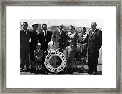 The Family Of Former President Herbert Framed Print