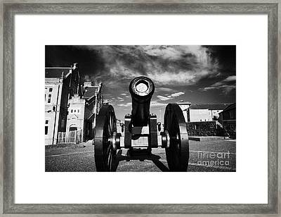 The Famous Roaring Meg Cannon On The Mall Wall And Double Bastion Section Of Derrys Walls Framed Print