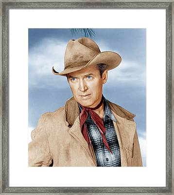 The Far Country, James Stewart, 1954 Framed Print