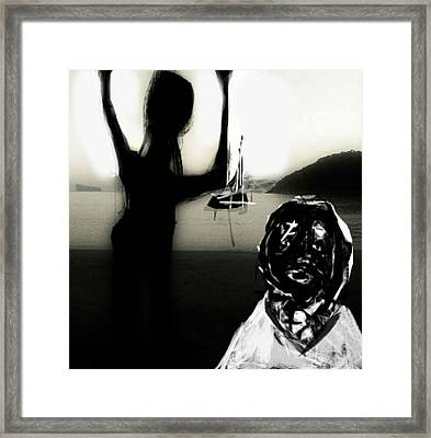 Framed Print featuring the mixed media The Farewell by Rc Rcd