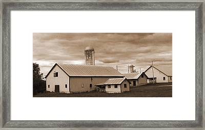 The Farm Framed Print by Barry Jones