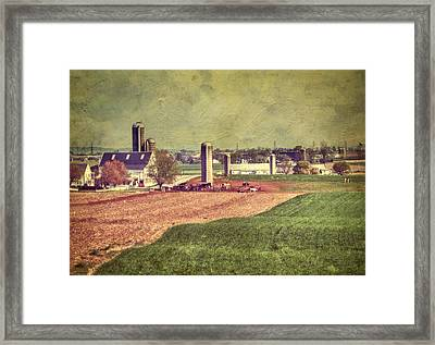 The Farm In Lancaster Framed Print by Kathy Jennings