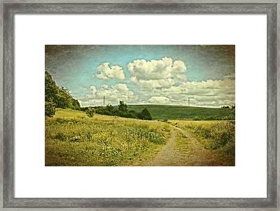 The Farm Road Framed Print