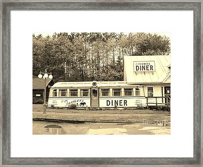 Framed Print featuring the photograph The Farmers Diner In Sepia by Sherman Perry