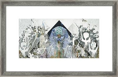 Framed Print featuring the mixed media The Faroah Of Funkadelphia by Douglas Fromm
