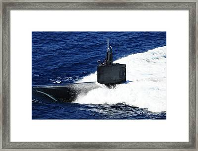 The Fast-attack Submarine Uss Framed Print by Stocktrek Images
