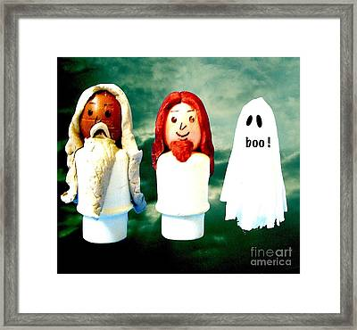 The Father The Son And The Holy Ghost Framed Print by Ricky Sencion