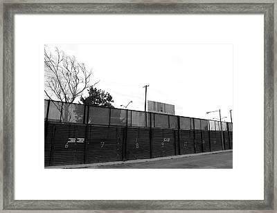 The Fence Framed Print by Ivan SABO