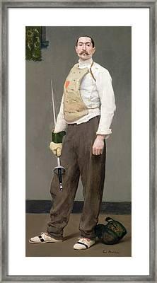 The Fencing Master Framed Print by Julius Gari Melchers