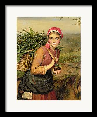 The Fern Gatherer Framed Prints