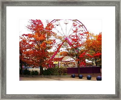The Ferris Wheel Framed Print by James Mancini Heath
