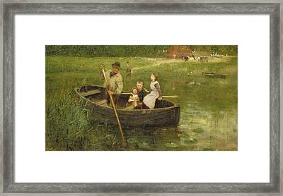 The Ferry Framed Print by Edward Stott