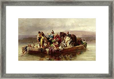 The Ferry  Framed Print by Johann Till