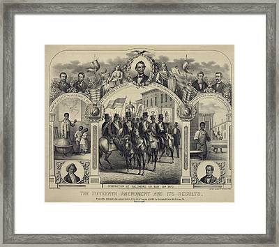 The Fifteenth Amendment Banning Voting Framed Print by Everett