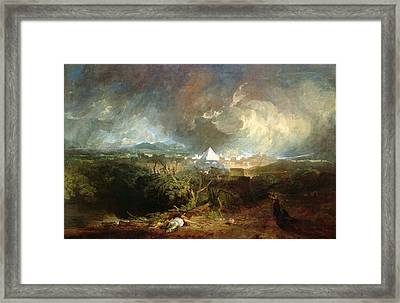 The Fifth Plague Of Egypt Framed Print by Joseph Mallord William Turner