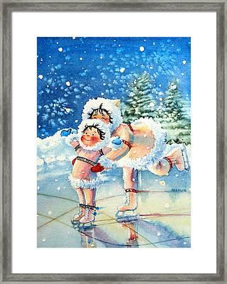 The Figure Skater 4 Framed Print