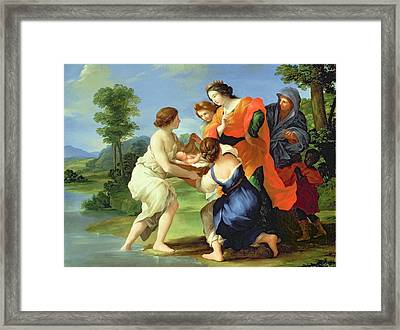 The Finding Of Moses Framed Print by Il Viterbese
