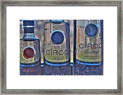 The Finest Of Vodka Ciroc Framed Print