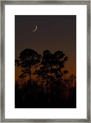 Framed Print featuring the photograph The Fingernail Moon by Dan Wells
