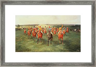 The Finish Of The Two Thousand Guineas At Newmarket Framed Print