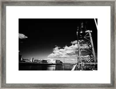 the Finnieston Crane on stobcross quay on the river clyde in Glasgow Scotland U Framed Print by Joe Fox