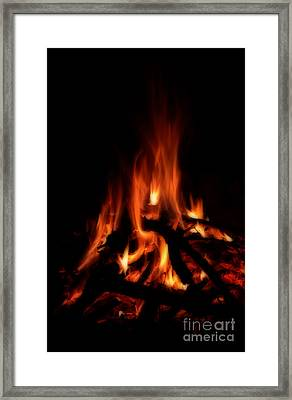 The Fire Framed Print by Donna Greene