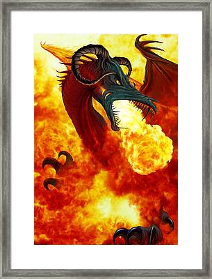 The Fire Dragon Framed Print by The Dragon Chronicles - Garry Wa