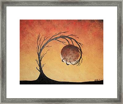 Framed Print featuring the painting The Fire Element by Edwin Alverio