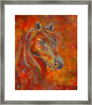 The Fire Of Passion Framed Print