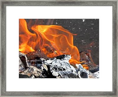 The Fire Within Us Framed Print by Valia Bradshaw