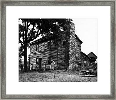 The First Home Of President Andrew Framed Print