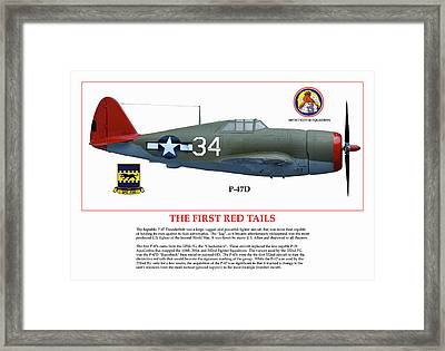 The First  Red Tails Framed Print by Jerry Taliaferro