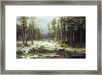The First Snow Framed Print by Pg Reproductions