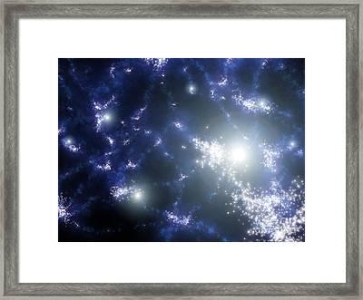 The First Stars, Artwork Framed Print by NASA/JPL-Caltech/SSC/Robert Hurt