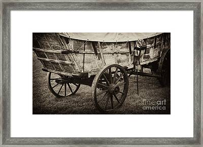 The First Station Wagons Framed Print