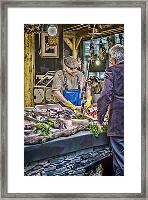 The Fish Monger Framed Print