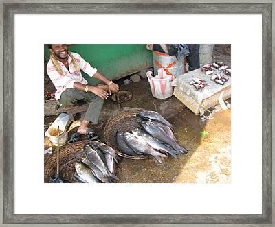 The Fish Seller Framed Print by David Pantuso