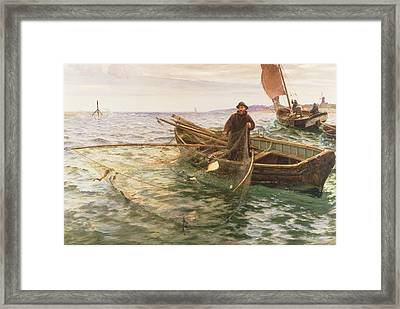 The Fisherman Framed Print by Charles Napier Hemy