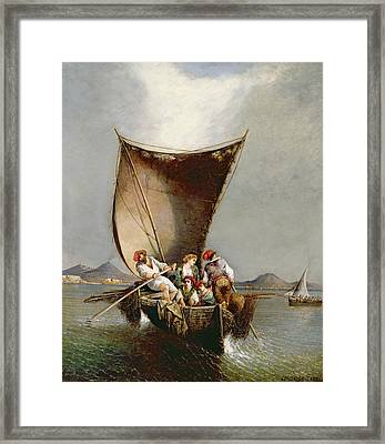The Fisherman's Family Framed Print by Consalvo Carelli