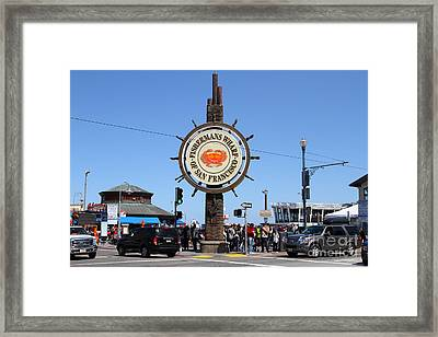 The Fishermans Wharf Sign . San Francisco California . 7d14224 Framed Print by Wingsdomain Art and Photography