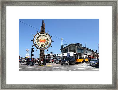 The Fishermans Wharf Sign . San Francisco California . 7d14232 Framed Print by Wingsdomain Art and Photography