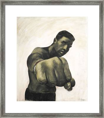 The Fist Framed Print by L Cooper