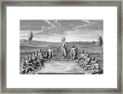 The Five Nation Confederacy Framed Print by Photo Researchers