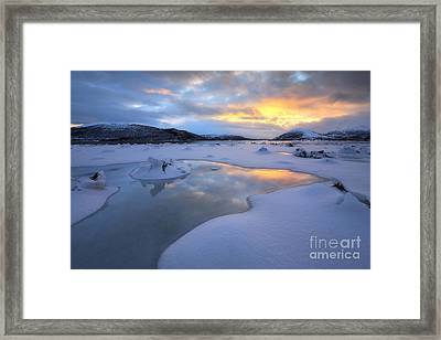 The Fjord Of Tjeldsundet In Troms Framed Print by Arild Heitmann