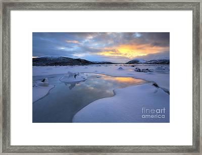The Fjord Of Tjeldsundet In Troms Framed Print