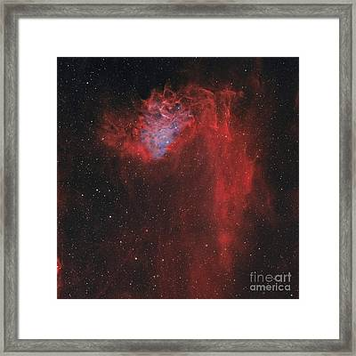 The Flaming Star Nebula Framed Print