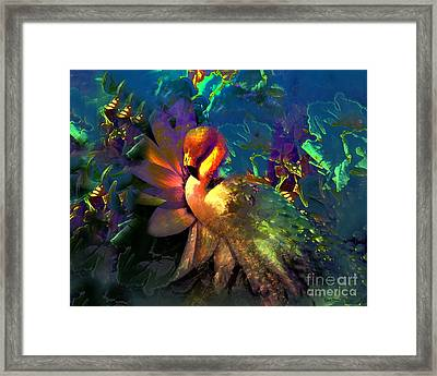 The Flamingo Of My Dreams Framed Print by Doris Wood