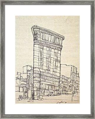 The Flatiron Framed Print
