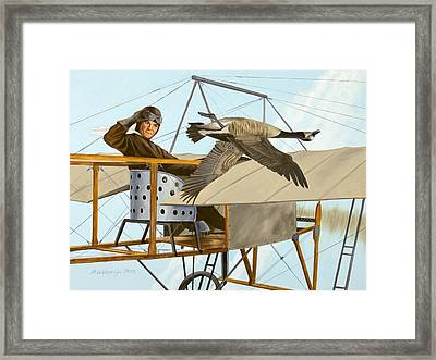 Framed Print featuring the painting The Fledgling by Karen Wilson