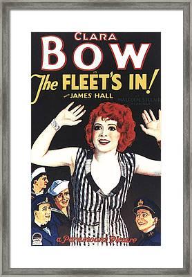 The Fleets In, Center Clara Bow Bottom Framed Print